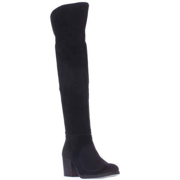 Steve Madden Orabela Over-The-Knee Boots, Black Suede