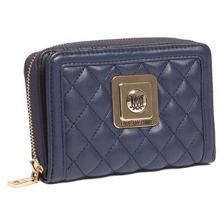Moschino JC5500 0751 Navy Blue Compact Wallet - 5.8-4-1.4