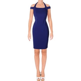 Lauren Ralph Lauren Womens Petites Bernecello Cocktail Dress Off-the-Shoulder