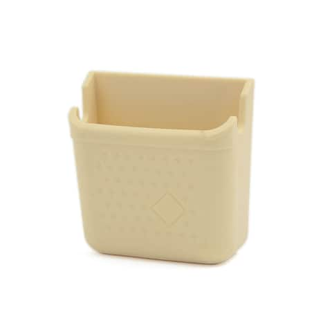 Self-adhesive Car Side Door Mount Storage Box Holder Beige for Smart Cell Phone