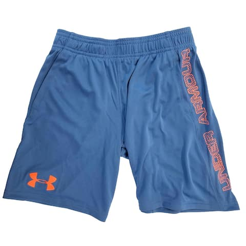 Under Armour Boys Athletic Shorts, Blue, YSM