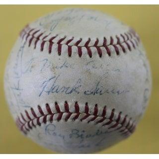 1954 Chicago Cubs Autographed ONL Baseball Ernie Banks Kiner 22 JSA Z42270