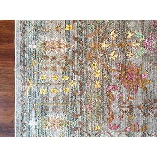 Safavieh Valencia Grey Multi Distressed Silky Polyester
