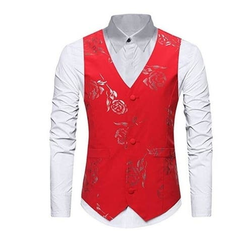 Men's Business Suit Vest Waistcoat Wedding Dress Vest Slim Fit