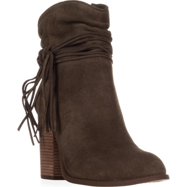 Jessica Simpson Sesley Wrapped Slouch Ankle Booties, Olive Taupe