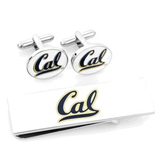 University of California Bears Cufflinks and Money Clip Gift Set Cal - Blue