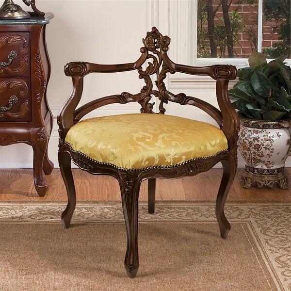 French Salon Corner Chair DESIGN TOSCANO Furniture Chair Chairs Corner Chair