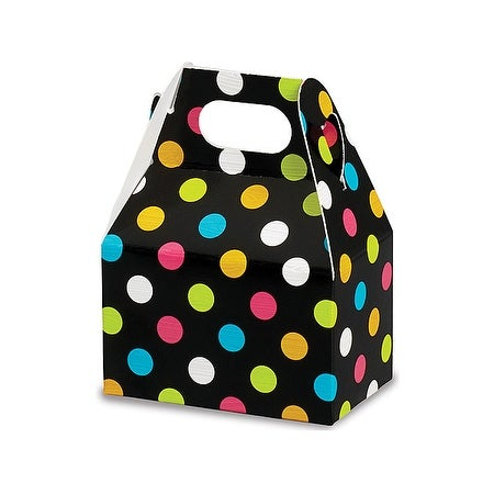 Pack Of 6 Bright Dots Mini Gable Boxes 4 X 2 5 X 2 5 Perfect For Candy Favor Boxes Gift Basket Fillers Small Gift Giving