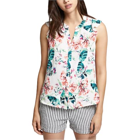 Sanctuary Clothing Womens Button Down Sleeveless Blouse Top