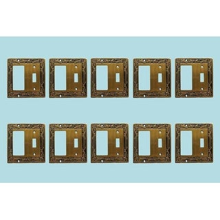 10 Victorian Switch Plate GFI Antique Solid Brass