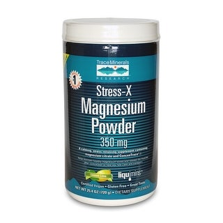 Trace Minerals Research, Stress-X Magnesium Powder, Lemon Lime 350mg, 17.6-...