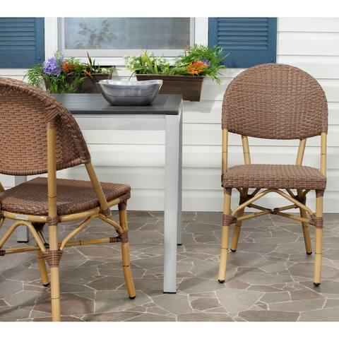 SAFAVIEH Barrow Indoor Outdoor Stackable Dining Chairs (Set of 2)