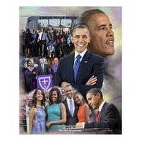''Barack Obama: We Will Overcome'' by Wishum Gregory Celebrities Art Print (11 x 8.5 in.)