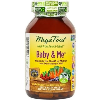Megafood Baby & Me Pre & Postal Natal Health - 120 Tablets Supports The Health of Mother & Developing Child