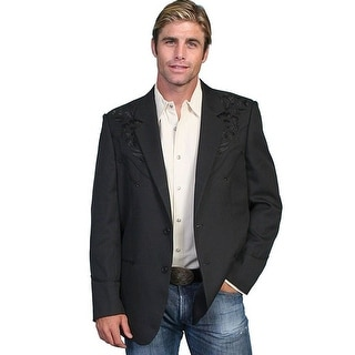 Scully Western Blazer Mens Embroidered Floral Tonal P-733