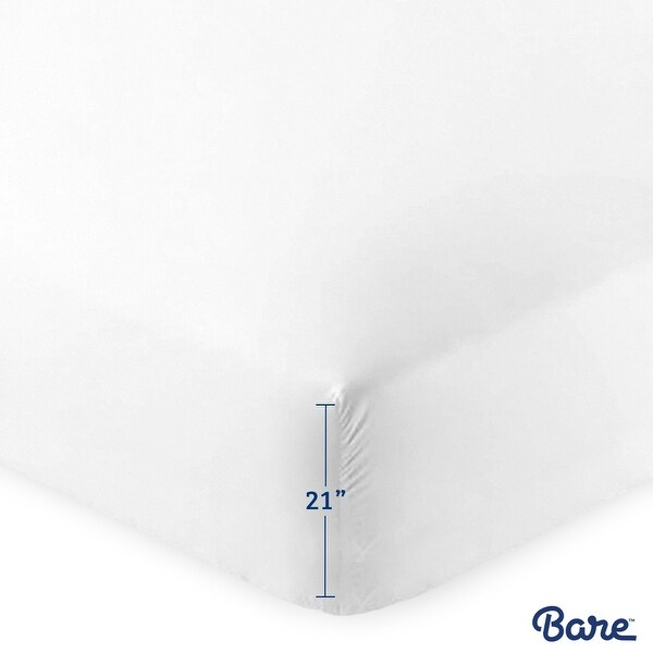 Bare Home Ultra-Soft Microfiber 21 Inch Extra Deep Pocket Fitted Sheet
