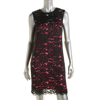 DKNY Womens Petites Lace Lined Cocktail Dress - p