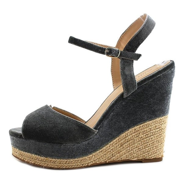 ZIGI SOHO Womens Caridee Fabric Open Toe Special Occasion Espadrille Sandals