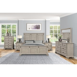 Link to Renova Distressed Parchment Wood Bedroom Set Similar Items in Bedroom Furniture