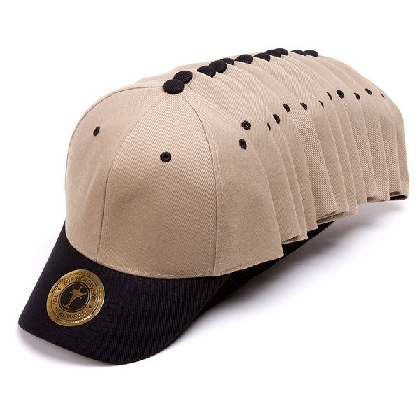 Top Headwear 12-Pack Adjustable Baseball Hat