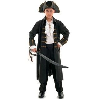 Underwraps Pirate Captain Child Costume (Black) - Black