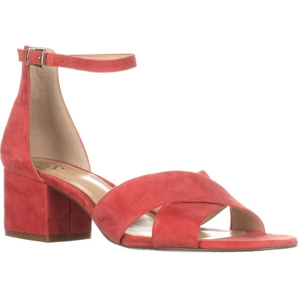 Vince Camuto Florrie Ankle-Strap Sandals, King Crab Suede - 8.5 us / 38.5 eu