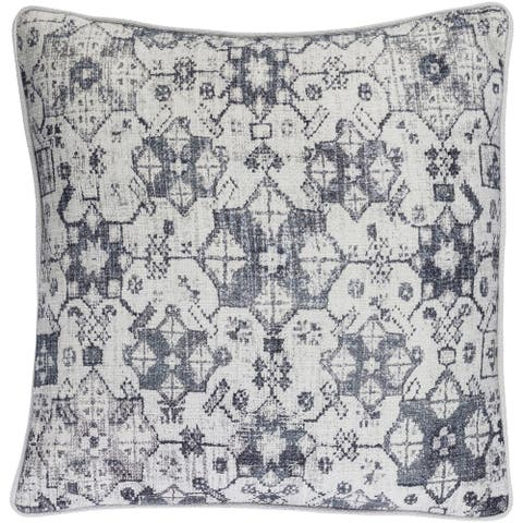 Decorative LasVegas Grey 22-inch Throw Pillow Cover