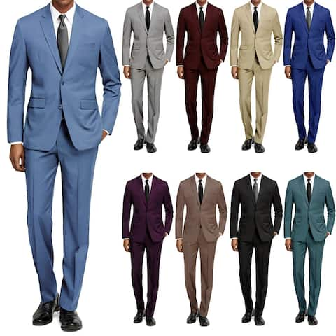 Braveman Men's Slim Fit Two-Piece Suit