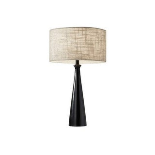 "Adesso 1517 Linda 1 Light 58.5"" Tall Buffet Table Lamp with Fabric Shade"
