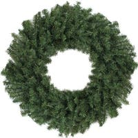 "30"" Canadian Pine Artificial Christmas Wreath - Unlit - green"