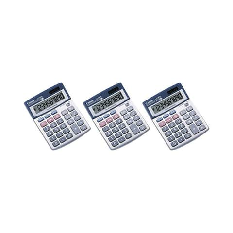 Canon LS100TS Portable Business Calculator (3-Pack) Canon LS-100TS Pocket Calculator - 10 Digit(s) - LCD - Battery/Solar Powered