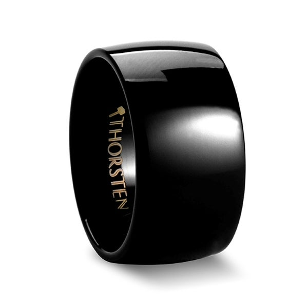 THORSTEN - TWILIGHT Domed Black Tungsten Ring - 12mm