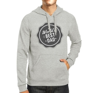 Worlds Best Dad Unisex Grey Funny Design Hoodie Witty Dad Gifts