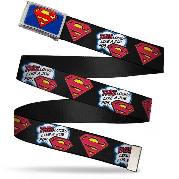 Superman Fcg Blue Chrome This Looks Like A Job For...Superman Shield Web Belt