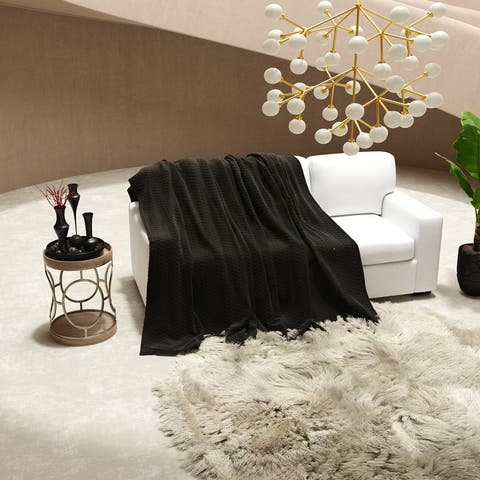 """Luxurious and Plush Flannel Throw Blanket (50"""" x 70"""")"""