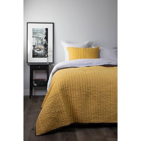 Allen Cotton/Linen Quilt Set