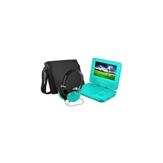 Ematic EPD707TL Ematic EPD707 Portable DVD Player - 7 Display - 480 x 234 - Teal - DVD-R, CD-R - JPEG - DVD Video, Video