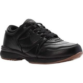 Propet Men's Cross Walker Shoe Black Leather