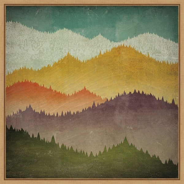 Mountain View by Ryan Fowler Framed Canvas Art. Opens flyout.