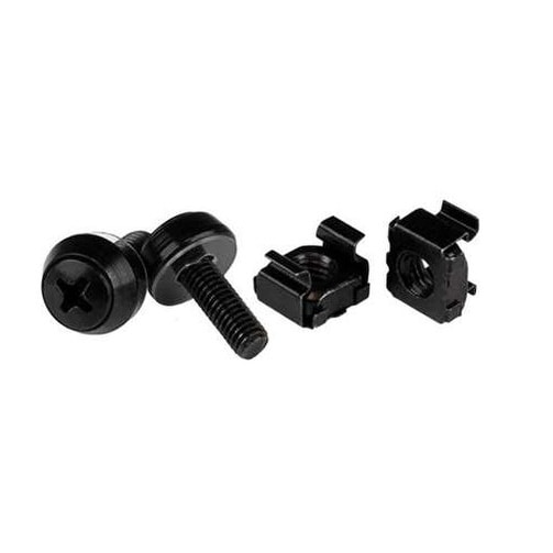 Startech - Cabscrewm52b 100Pk Of M5 Mounting Screws Andnblack Cage Nutsx12mm