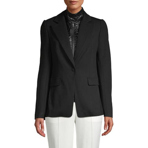 Laundry by Shelli Segal 3-In-1 Blazer Jacket, Black, Small