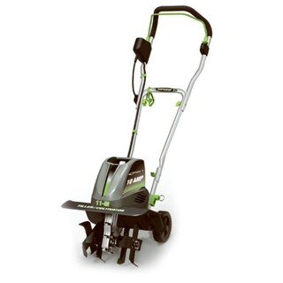 Earthwise TC70010 Electric Corded Tiller with 10A Motor, 120V, 60 Hz