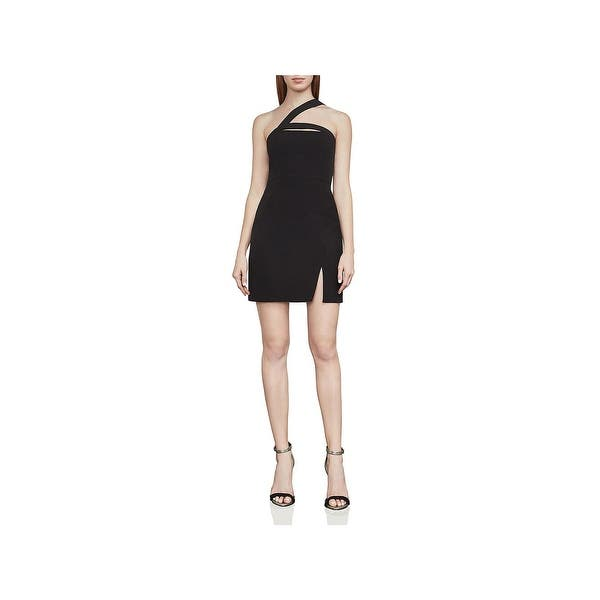 ff0e922bcd4 Shop BCBG Max Azria Womens Party Dress Cut-Out One Shoulder - Free ...