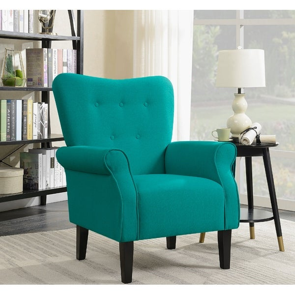 Shop belleze living room modern wingback armchair accent - High back wing chairs for living room ...