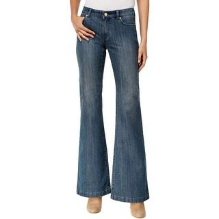 Michael Kors Womens Flare Jeans Slim Fit High Rise