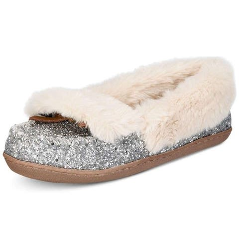 INC International Concepts Womens Yasmina Faux Fur Closed Toe Slip On Slippers