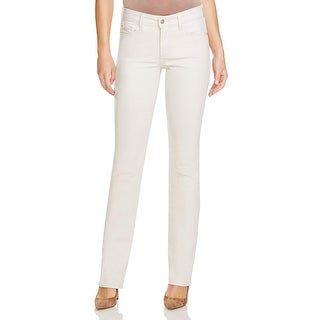 NYDJ Womens Petites Marilyn Straight Leg Jeans Denim Lift Tuck Technology - 10P