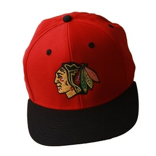 NHL Chicago Blackhawks Red/Black Snapback Hat + GT Sweat Wristband