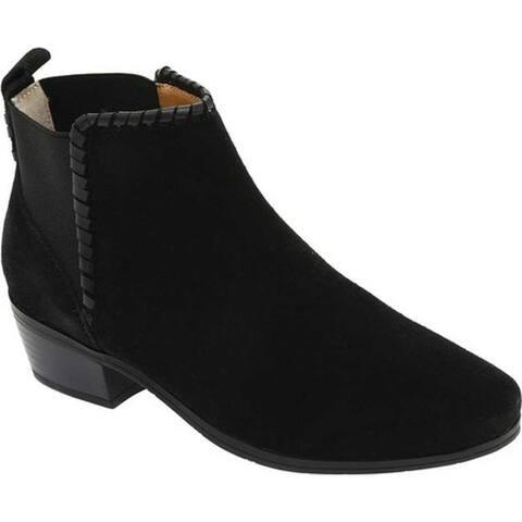 Jack Rogers Women's Tori Chelsea Boot Black Suede