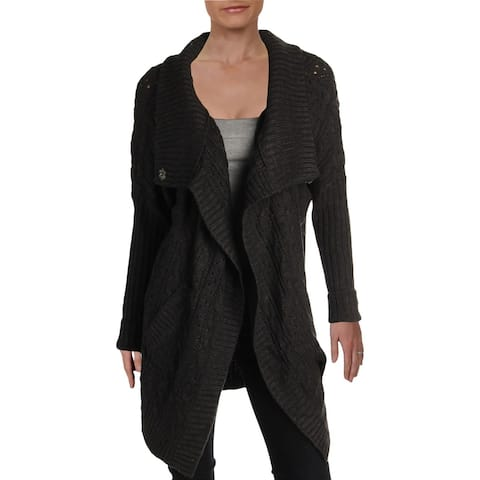 RD Style Womens Cardigan Sweater Open Front Ribbed